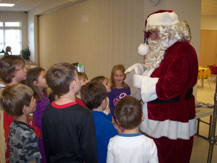 One of our favorite annual events!  Santa comes to town!